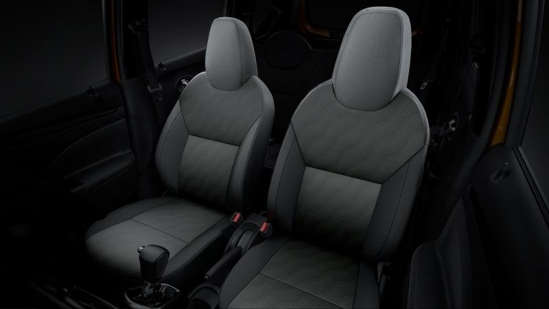 Datsun Cross interior front seats