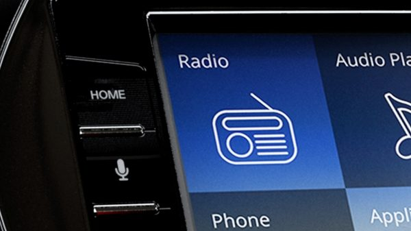 Datsun Cross center touchscreen with radio functionality