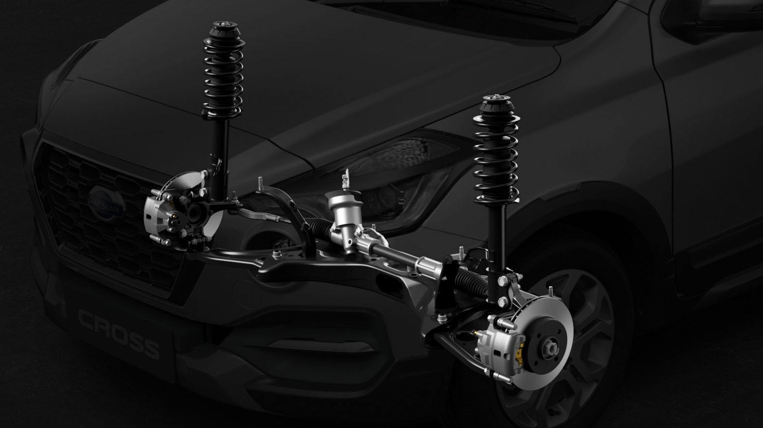 Datsun Cross graphic of suspension system