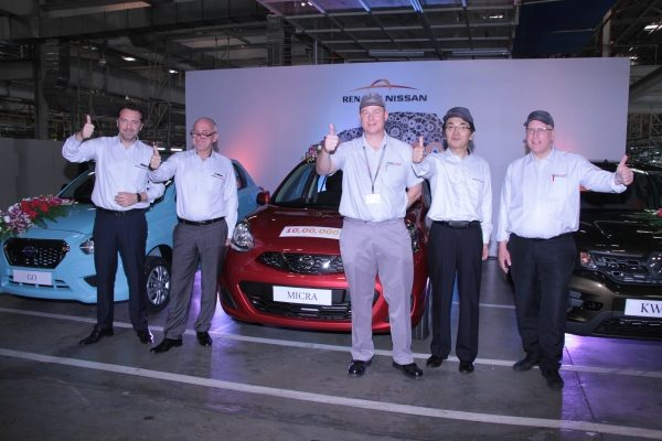Renault Nissan Alliance plant in India produces one millionth vehicle