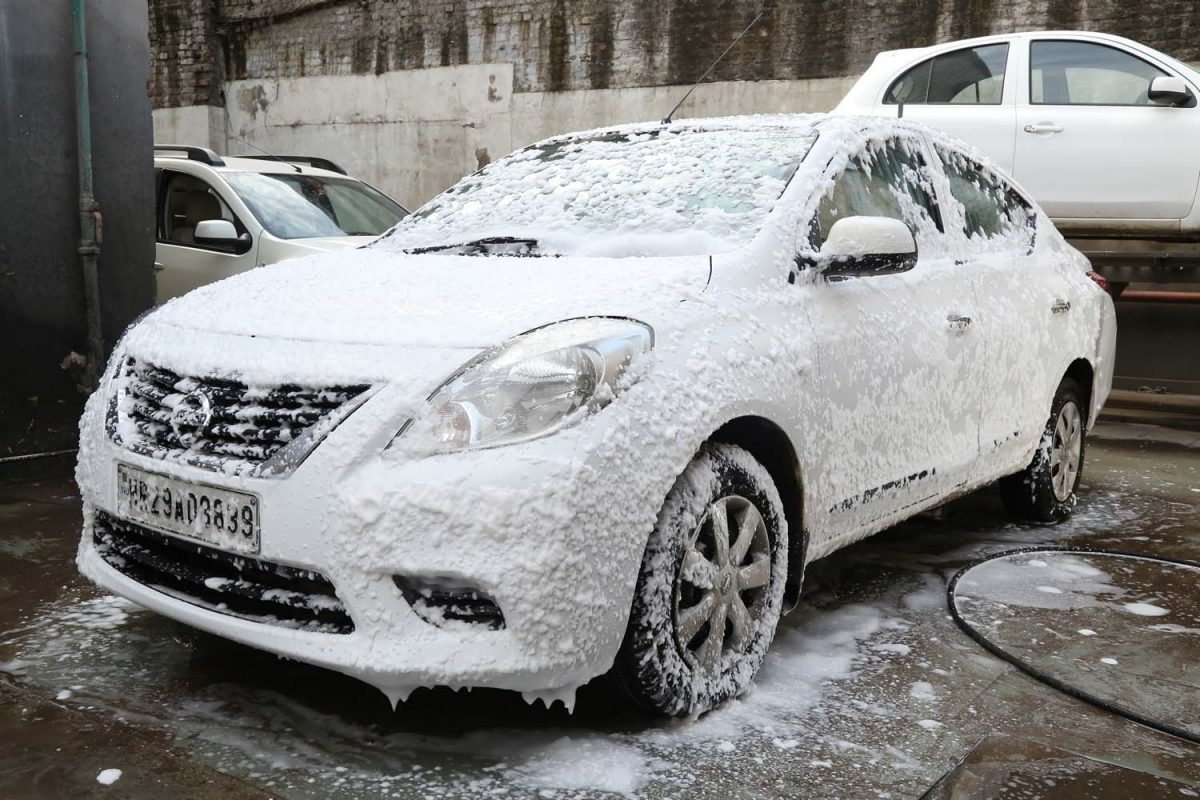 car foam wash