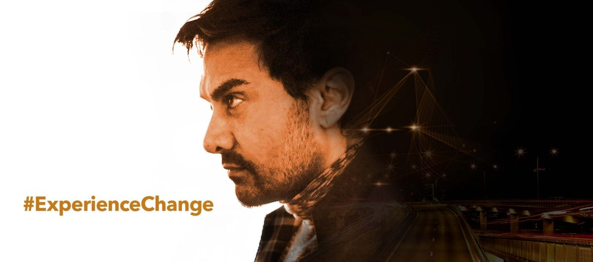 Aamir Khan with the New Datsun Experience Change