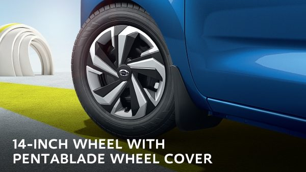 14-INCH WHEEL WITH PENTABLADE WHEEL COVER
