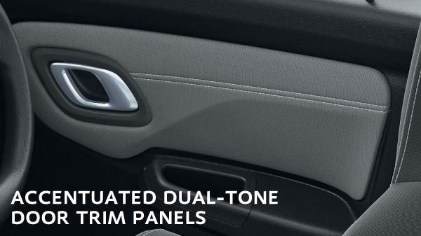 ACCENTUATED DUAL-TONE DOOR TRIM PANELS
