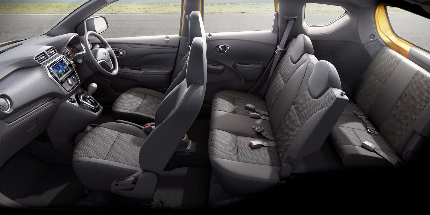 Datsun Cross interior with 3-row seating